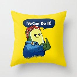 Vegan do It Avocado Throw Pillow