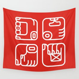 Mayan Glyphs ~ Hands Wall Tapestry