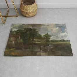 The Hay Wain in 1,750 pixels (35x50) Rug