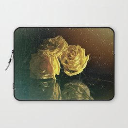 Yellow Vintage Roses Laptop Sleeve