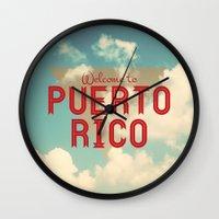 puerto rico Wall Clocks featuring Puerto Rico by Ákos Kőrös