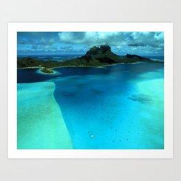 Bora Bora Lagoon Aerial Art Print