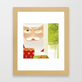 Milk and Cookie for Santa Framed Art Print