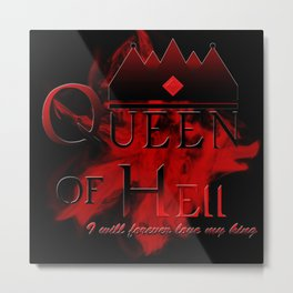 Queen of Hell Black Metal Print