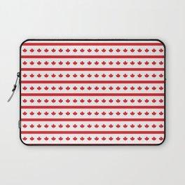 Canada Day Maple Leaf Stripe Laptop Sleeve