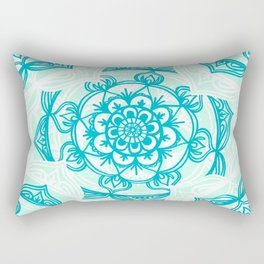 Turquoise Sea Mandalas Rectangular Pillow
