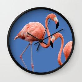 Flamingo Contrast #society6 #decor #buyart Wall Clock