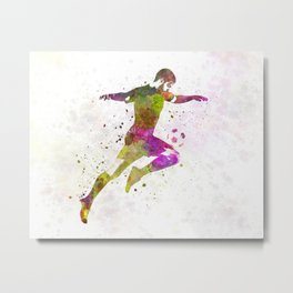 man soccer football player 12 Metal Print