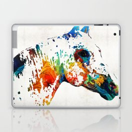 Colorful Horse Art - Wild Paint - By Sharon Cummings Laptop & iPad Skin