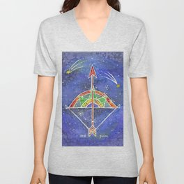 Zodiac Collection: Sagittarius Unisex V-Neck
