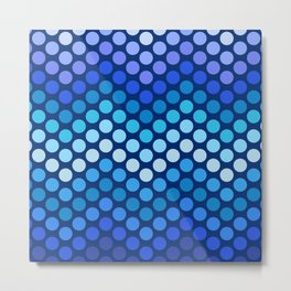 Dot Chevron: Blue violet Metal Print