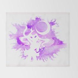 Sailor Moon - Purple Watercolor Moon Throw Blanket