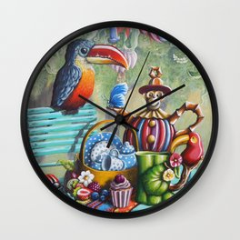 Lunch In The Jungle Wall Clock