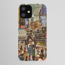 Vintage Hong Kong Travel Poster iPhone Case