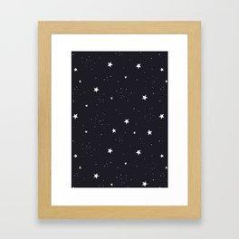 stars pattern Framed Art Print