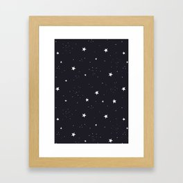 stars pattern Framed Art Print