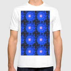 Mosaic in Blue White MEDIUM Mens Fitted Tee