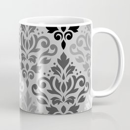 Scroll Damask Ptn Art BW & Grays Coffee Mug