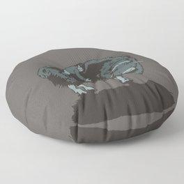 Muskox by moonlight Floor Pillow