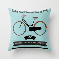 BICICLETA Throw Pillow