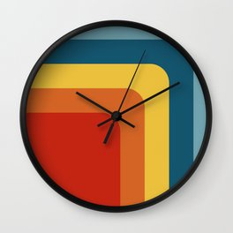 Retro Color Geometric Abstract Pattern Wall Clock