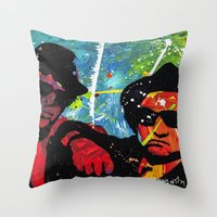blues brothers Throw Pillows featuring Blues by veermania