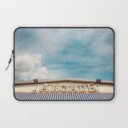 Arcade Sign on Boardwalk Laptop Sleeve