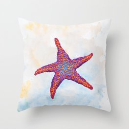 Hoopless: Washed Up Star Throw Pillow
