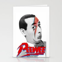 pee wee Stationery Cards featuring Pee wee by Iamzombieteeth Clothing