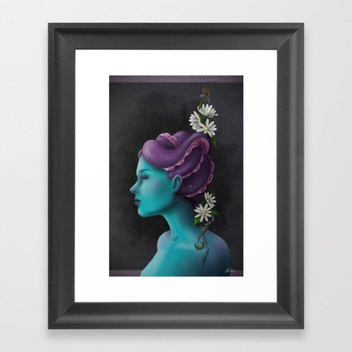 A Strange Portrait Framed Art Print