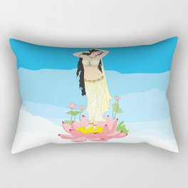 Indian Apsara Rectangular Pillow
