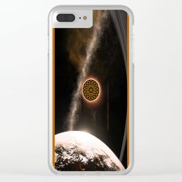 Eclipsing Mandala Clear iPhone Case