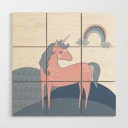 Unicorn hills Wood Wall Art