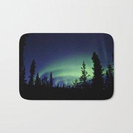 Aurora Borealis Landscape Bath Mat