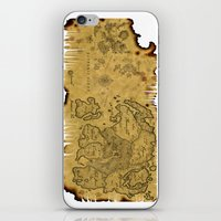 world maps iPhone & iPod Skins featuring Old Maps by tanduksapi