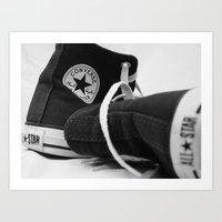 converse Art Prints featuring Converse by Jessy Belanger