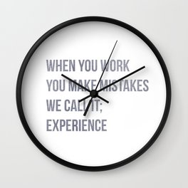 We call it experience, Office Quote Wall Decor, Workplace Poster Wall Clock