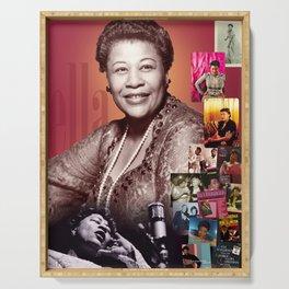 Ella Fitzgerald Collage Portrait I Serving Tray
