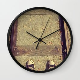 On The Rails Wall Clock