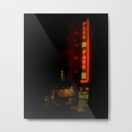 Late Night Park - New York City Metal Print