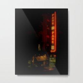 Late Night Park - New York City Metal Print