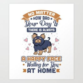 A Happy Face Waiting For You At Home Art Print