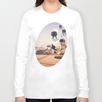 college Long Sleeve T-shirts featuring Fear and Loathing on Tatooine by Anton Marrast