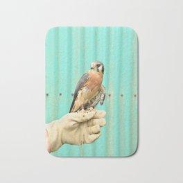 American Kestrel Falcon Bird Wildlife Northwest Bath Mat