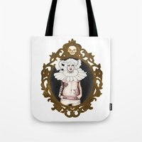 lucy Tote Bags featuring Lucy by Cisternas