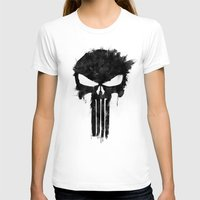 punisher T-shirts featuring Punisher Black by d.bjorn