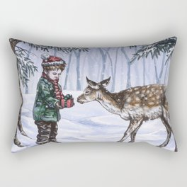 A Holiday Gift Rectangular Pillow