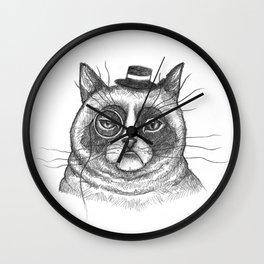 The Grumpy Gentleman's Cat Wall Clock