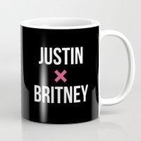 justin timberlake Mugs featuring JUSTIN + BRITNEY by EXO Design