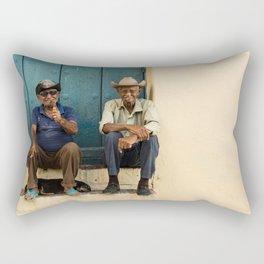 Two old Cuban men Rectangular Pillow